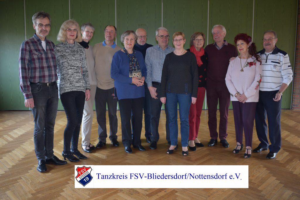Gruppenfoto Tanzkreis FSV Bliedersdorf Nottensdorf e.V.
